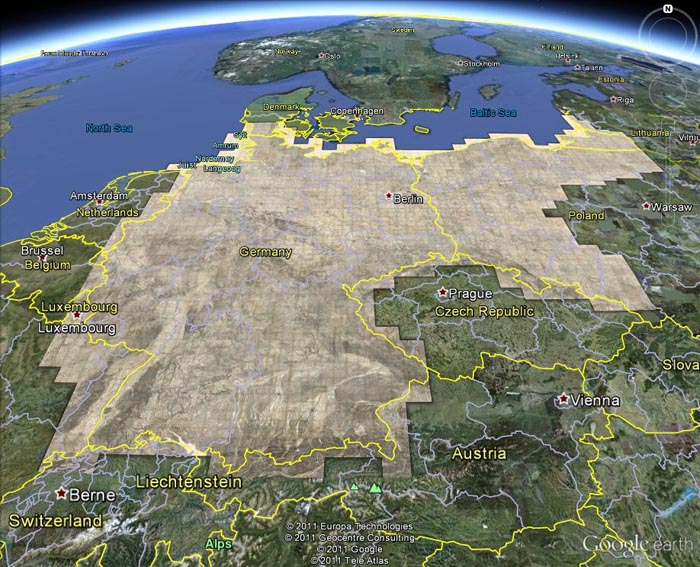 Germany 1893 layer in Google ...