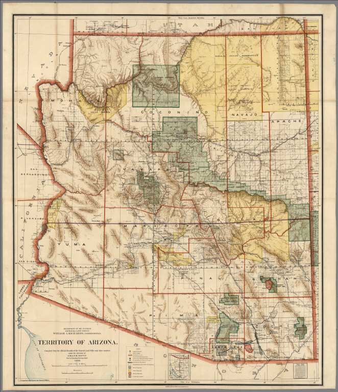 9 Maps Of Western States And Territories By The U S General Land Office 1898 To 1941 U S General Land Office Washington D C These Maps Show The U S
