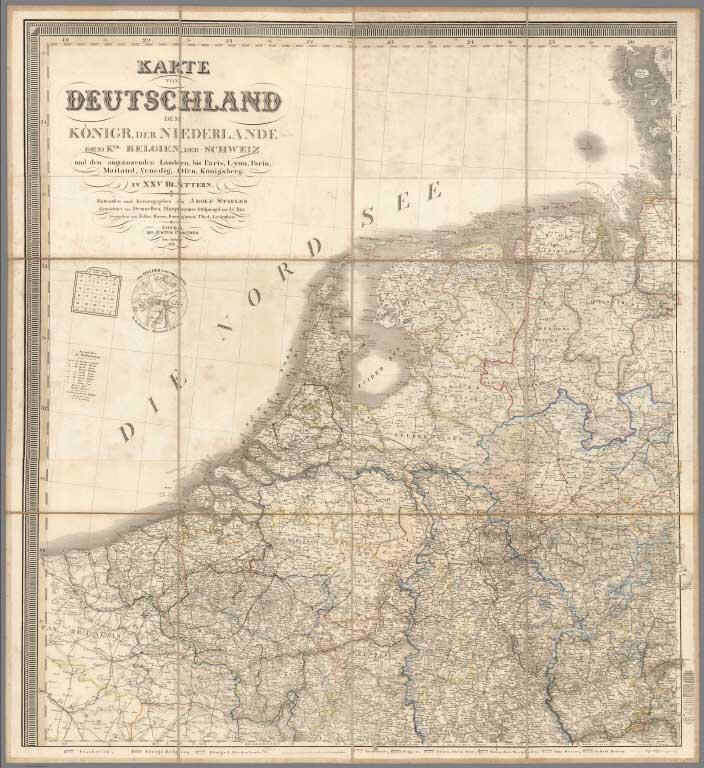 Art Teil Peru Karte Geografische Von Amerika Nr.25 Vandermaelen 1827 Antik Map