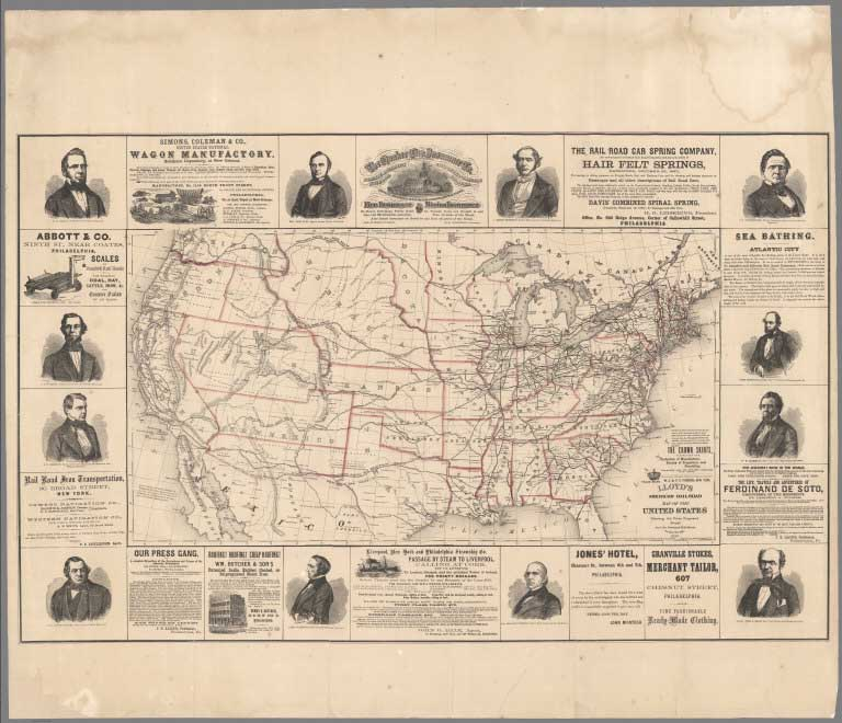 David Rumsey Historical Map Collection Recent Additions - Railroad map us 1880