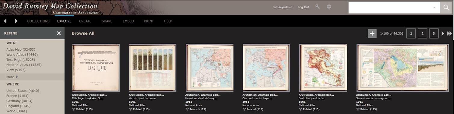 David Rumsey Historical Map Collection The Collection
