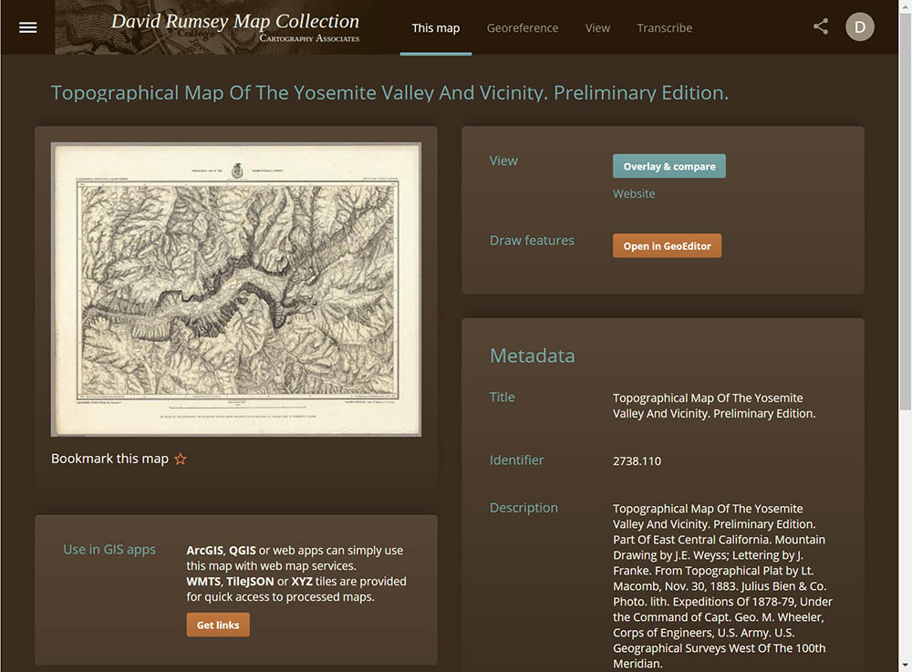 David Rumsey Historical Map Collection | Georeferencer