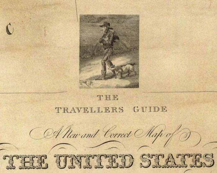 David Rumsey Historical Map Collection Cartouches Or Decorative - Us paper map thomas guide