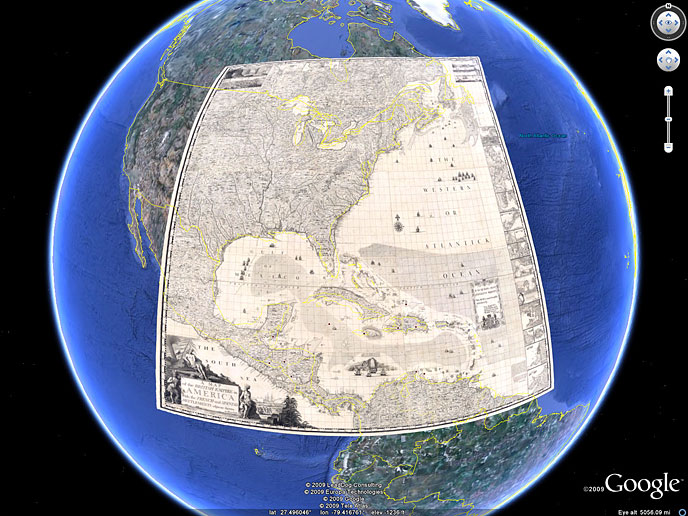 David Rumsey Historical Map Collection Google Earth - Google world map satellite free