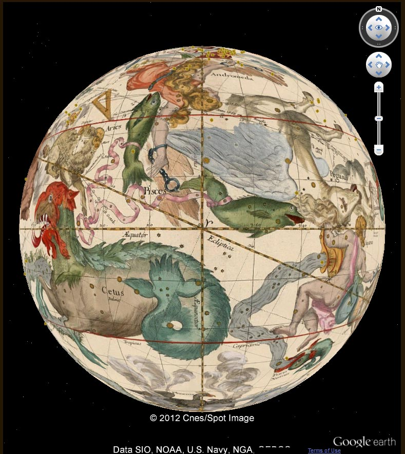 David rumsey historical map collection mapping the heavens in 1693 view singly in google earth application requires download of app or with all the rumsey georeferenced maps in the google earth application new maps gumiabroncs Choice Image
