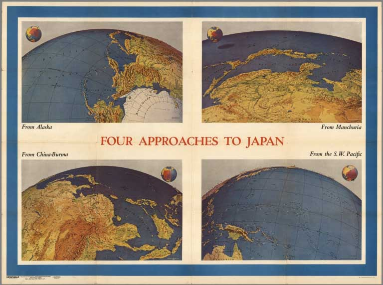 Air Map Of The World.David Rumsey Historical Map Collection Over 2 000 Pictorial Maps